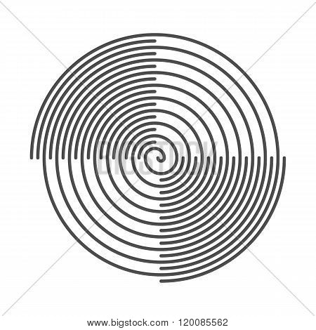 Spiral Abstract Background. Vinyl Grooves. Vector Illustration