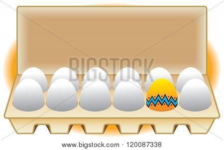 Easter Egg in a Carton