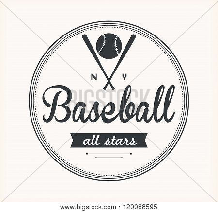 Baseball Vector Label
