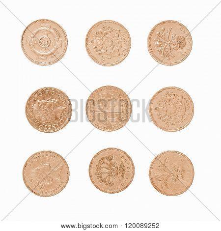 Pound Coin Vintage