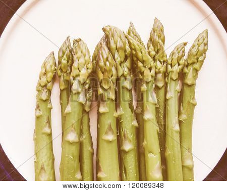 Retro Looking Asparagus Vegetable
