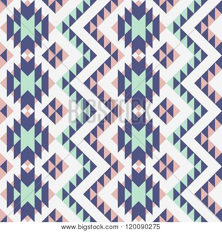 seamless pattern with ethnic tribal ornament