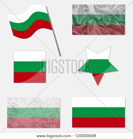 Set With Flags Of Bulgarian