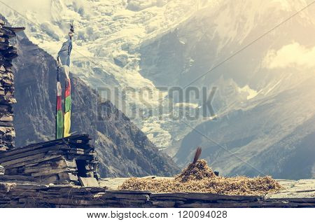 Mountain view, Annapurnas in Nepal.