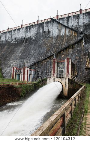 Wall of Neyyar Dam