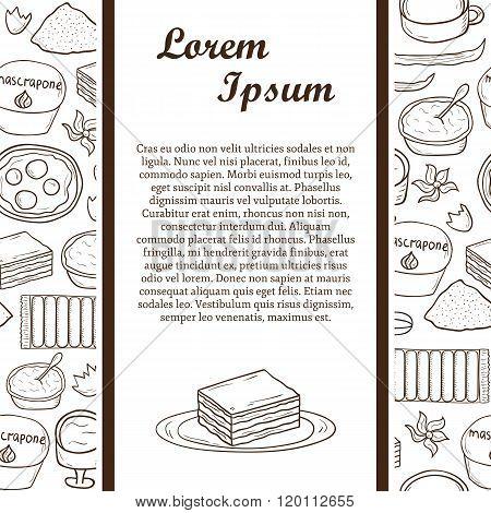 Tiramisu ingredients concept