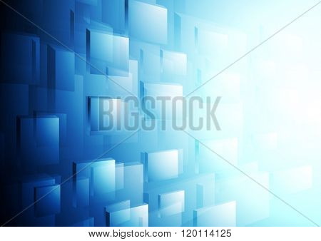 Bright blue hi-tech motion background. Vector template brochure design
