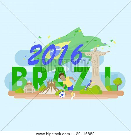 Brazil With 2016 Text