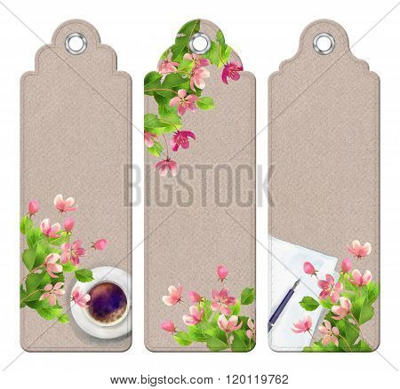 Spring Watercolor Bookmarks