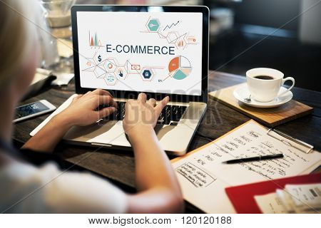 E-commerce Global Business Digital Marketing Concept