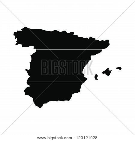 Map of Spain simple icon