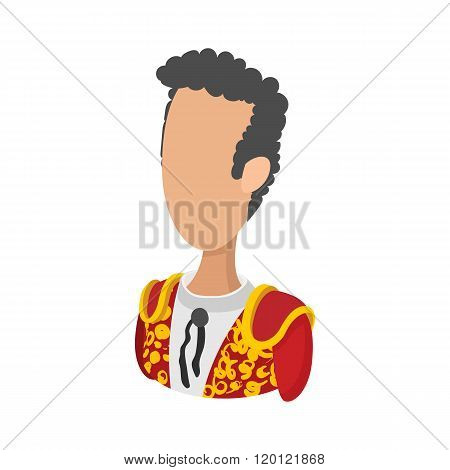 Spanish torero icon, cartoon style
