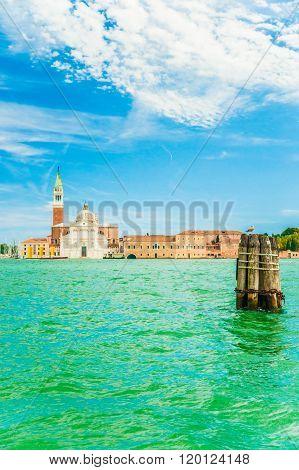 View of San Giorgio Island in Venice