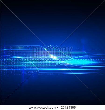 Digital line technology future background vector