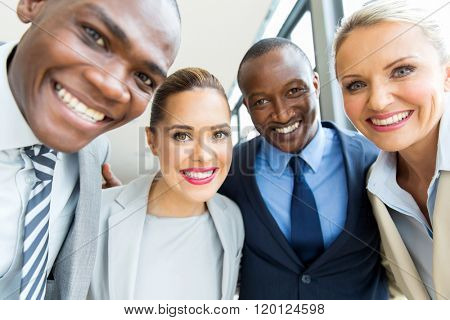 group of professional business team closeup