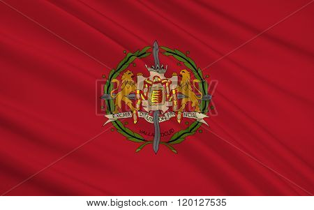Flag Of Valladolid Is A Province Of Northwest Spain