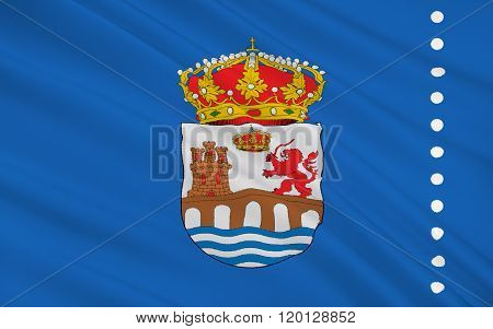 Flag Of Ourense Is A Province Of Northwestern Spain In The Autonomous Community Of Galicia