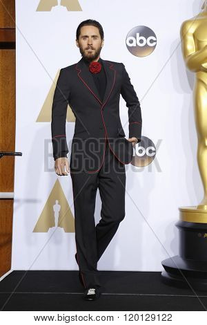 LOS ANGELES - FEB 28:  Jared Leto at the 88th Annual Academy Awards - Press Room at the Dolby Theater on February 28, 2016 in Los Angeles, CA