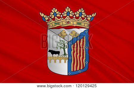 Flag Of Salamanca Is The City Of Western Spain