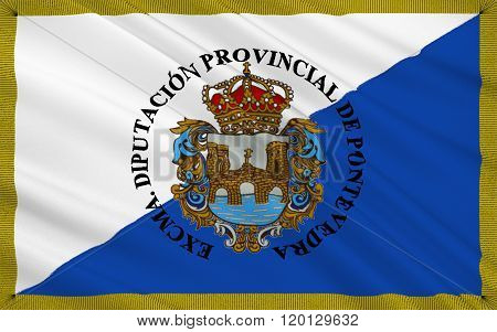Flag Of Pontevedra Is A Province Of Spain In The Autonomous Community Of Galicia