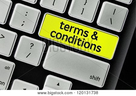 Keyboard  Button Written Word Terms & Conditions