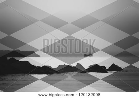Bw Abstract Sea Background