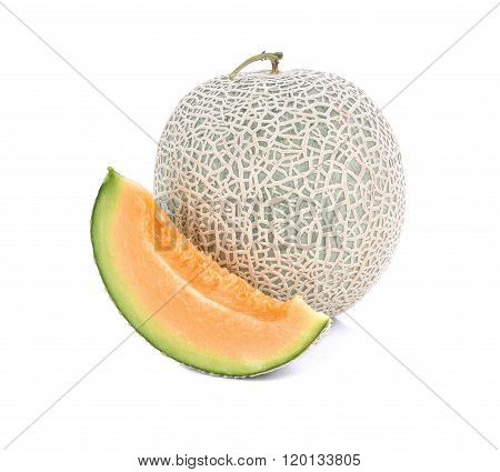 Honeydew Melon/a Juicy Melon/a Juicy Honeydew Melon From Japan On A White Background. Shot In Studio