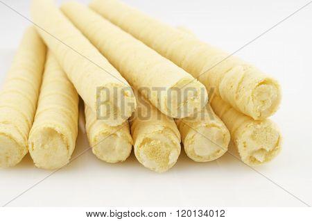Yellow Waffle Rolls