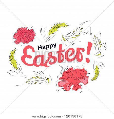 Easter spring card