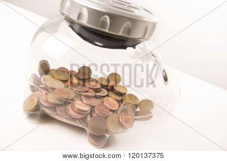 Euro coins saving crisis