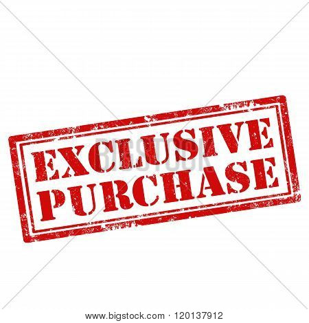 Exclusive Purchase-stamp