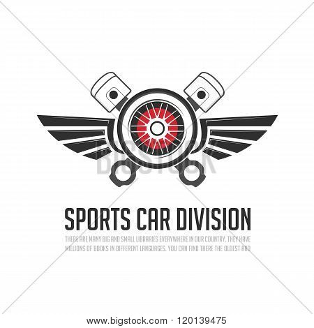 Automotive wheel with wings.