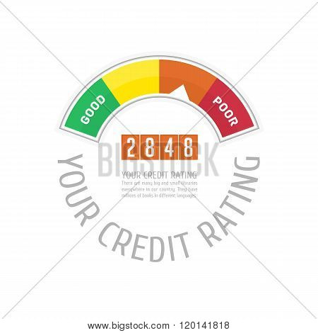 Credit counter with text.