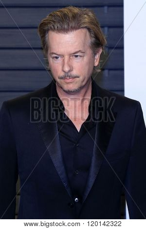 LOS ANGELES - FEB 28:  David Spade at the 2016 Vanity Fair Oscar Party at the Wallis Annenberg Center for the Performing Arts on February 28, 2016 in Beverly Hills, CA