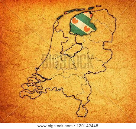 Friesland On Map Of Provinces Of Netherlands
