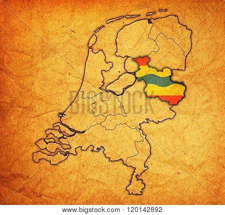 Overijssel On Map Of Provinces Of Netherlands