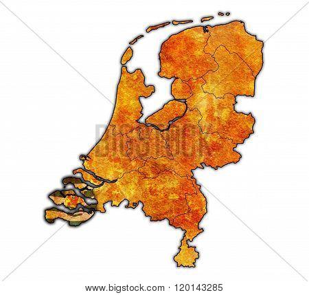 Zeeland On Map Of Provinces Of Netherlands