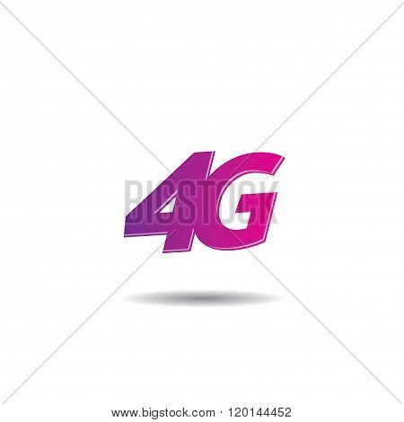4G Internet Vector Logo Template