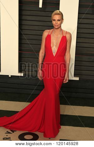 LOS ANGELES - FEB 28:  Charlize Theron at the 2016 Vanity Fair Oscar Party at the Wallis Annenberg Center for the Performing Arts on February 28, 2016 in Beverly Hills, CA