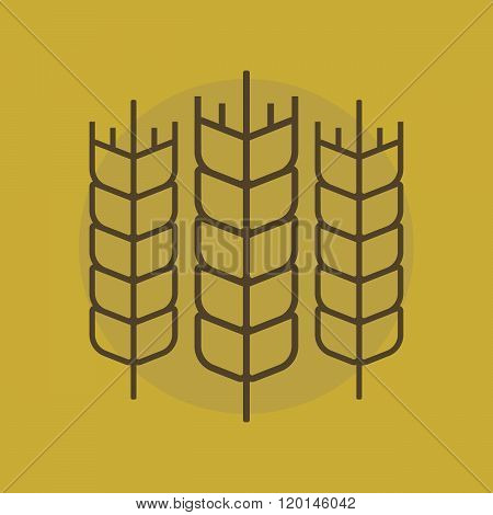 Wheat vector sign. Wheat logo. Wheat simbol on a flat style. Organic logo. Agriculture concept