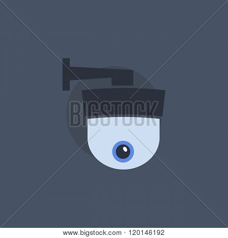 Security camera symbol. Security camera concept in flat style. Security camera sign. Security camera