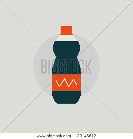 Fast food soda. Soda flat style. Fast food drink concept. Soda symbol