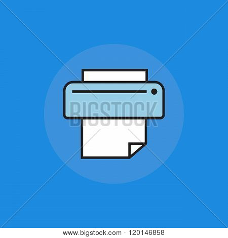 Printing icon. Ptinting concept in flat style. Print sign. Printing symbol. Ink icon. Printing vecto