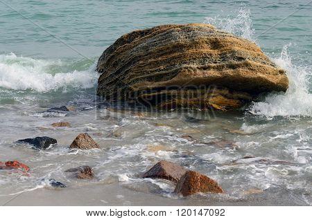 Limestone Rock Stones,odessa,black Sea,ukraine