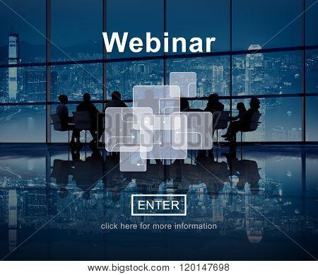 Webinar Cloud Online Technology Webcast Concept