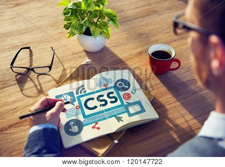 CSS Program Web Development Technology Concept