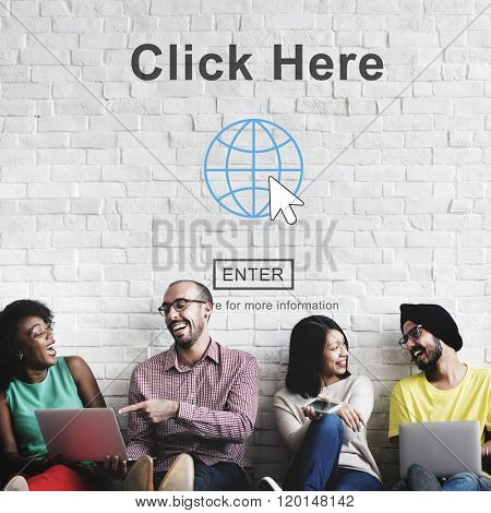 Click Here Website Web Page Online Internet Concept