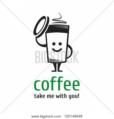 Logo coffee cup.