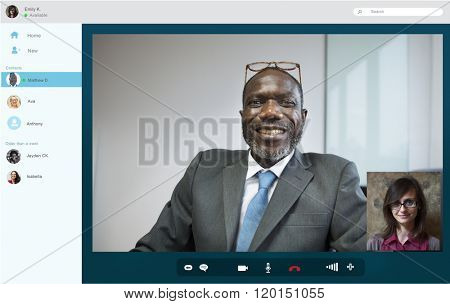 Business People Chat Video Call Lifestyle Concept