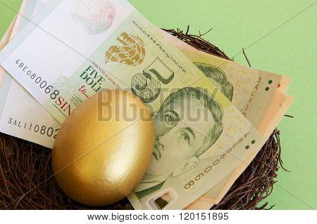 Singaporean Notes, Egg and Nest